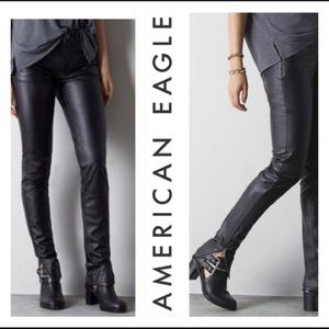 NWOT American Eagle Faux Leather High Rise Jegging